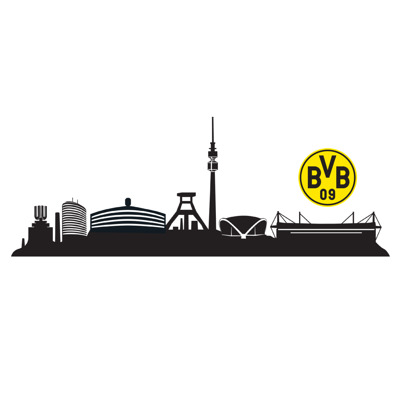 BVB-Wandtattoo Skyline