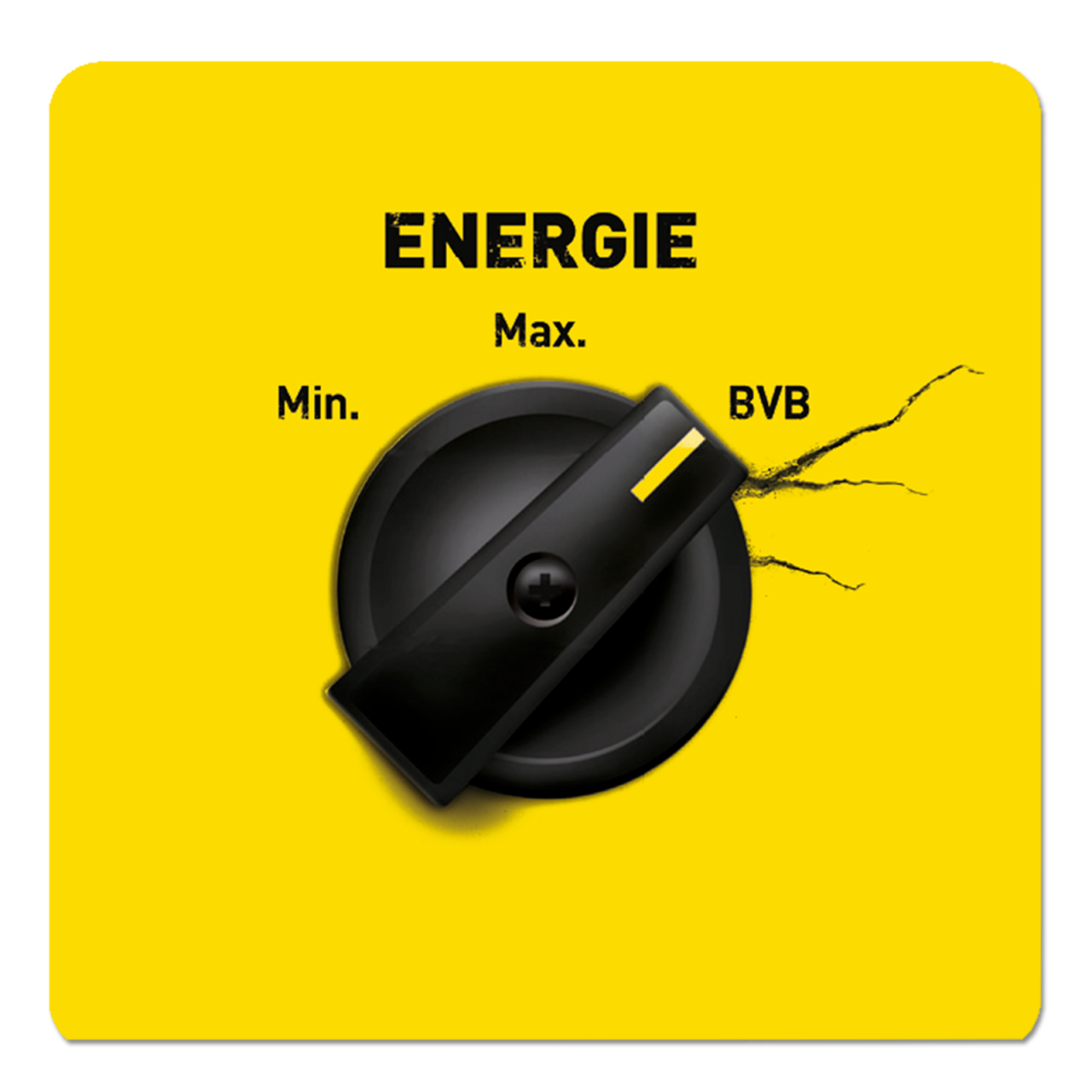 BVB-Aufkleberkarte Voltmesser