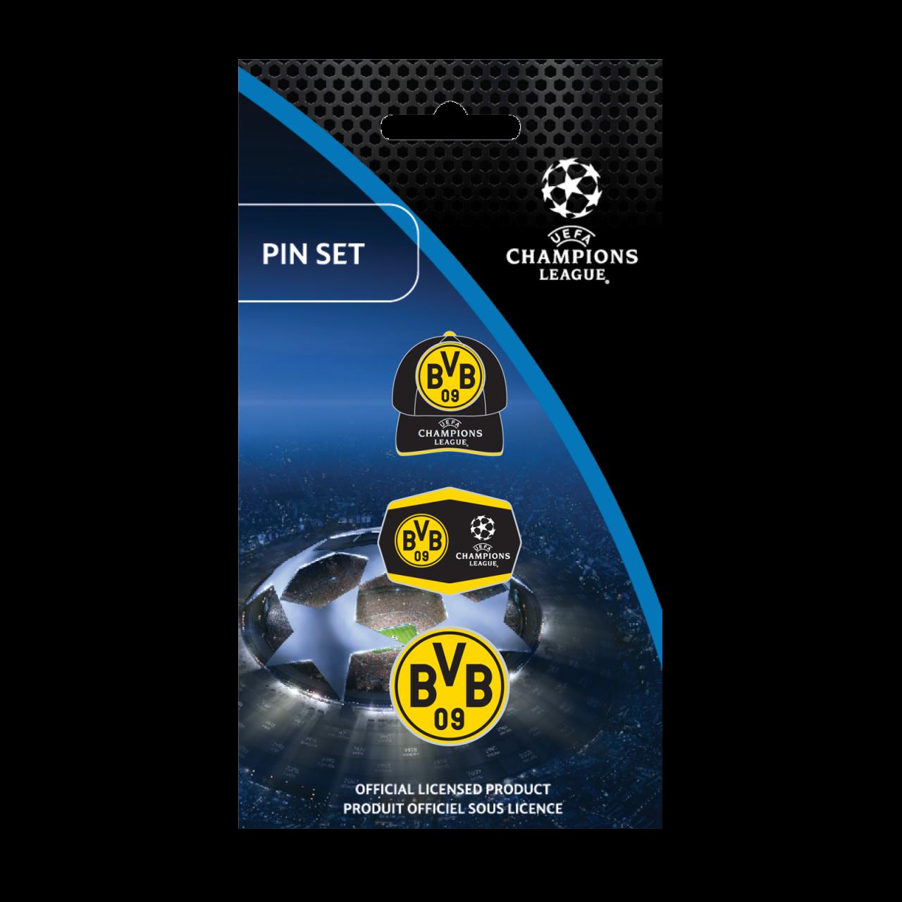 BVB-Pin-Set zur UEFA CL