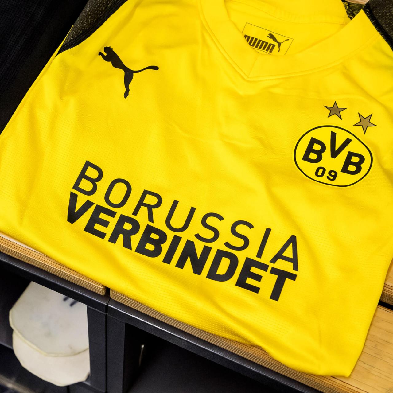 """Vorber. Trikot Alcacer, """"Borussia verbindet´´"""