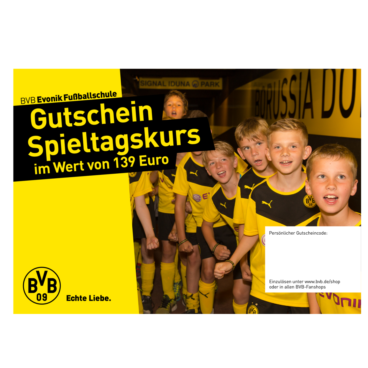 Gutschein Fußballschule Spieltagskurs