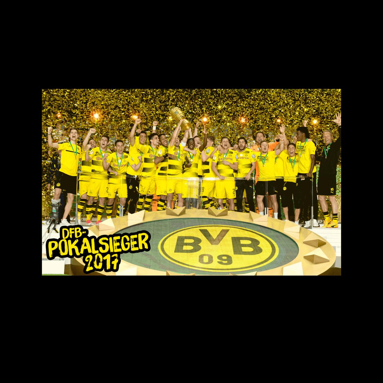 BVB-Kunstdruck DFB-Pokalsieger 2017